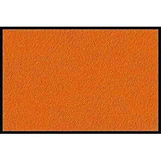 Extra Large Medium Small High Grade Premium Quality Vibrant Colours Non Slip Door Mat Rubber Backed Runner Mats Rugs PVC 9mm thick Non Shedding Indoor / Outdoor Use 4 Colours 3 Sizes Made in EU AAA Grade & Quality Commercial Standard (Orange, 90x150 Cm)