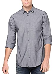 Jack & Jones Men Casual Shirt (5712411984187 Black X-Large )