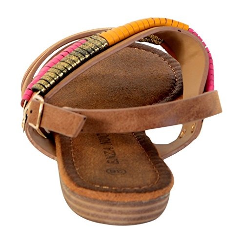 Sandale Plate Enza Nucci LTS2843 Camel Marron