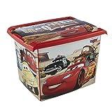 keeeper Cars Aufbewahrungsbox mit Deckel, 39 x 29 x 27 cm, 20,5 l, Filip, Rot