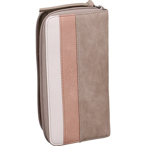 Tamaris Damen Khema Big Zip Around Wallet Geldbörse, Grau (Light Grey Comb), 2x10x19,5 cm (Damen Zip-around Wallet)