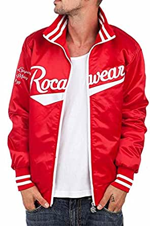 ROCAWEAR BOMBER BASEBALL VARSITY COLLEGE JACKETS MENS BOYS TIME NAPPY IS MONEY (S)