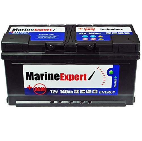 Batteria per barca, 140 Ah, AGM, senza manutenzione, 120 Ah, 110 Ah,