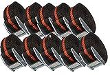 10 Stück Befestigungsriemen-Set Spanngurt, Zurrgurt,Klemschoss Gurt ideal zur Befestigung am Fahrradträger
