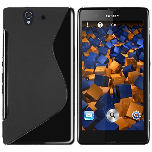 mumbi TPU Silikon Schutzhülle für Sony Xperia Z Hülle schwarz