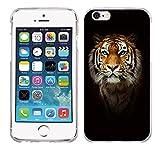 Funda iPhone 6 6s, Fubaoda [testa di tigre] Carcasa Claro Panel Posterior de Bordes Amortiguadores de TPU Blando Funda Carcasa para iPhone 6 6s