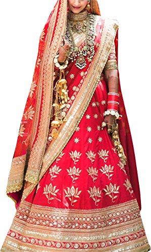 ShreeBalaji Creation Women's Silk MultiColor Lehenga Cholis (SBC-NiloAng009_MultiColour_Free Size)