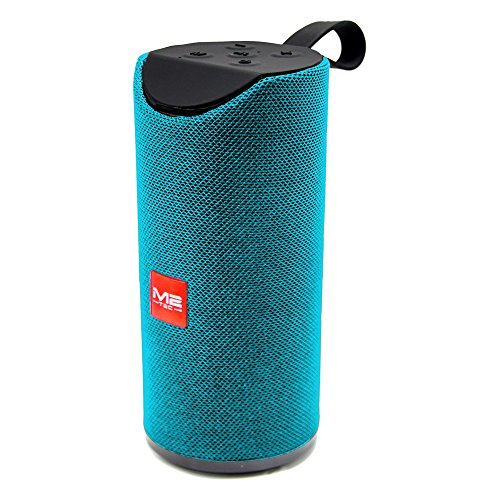 Tragbarer Bluetooth Lautsprecher Soundbox Soundstation Musikbox Radio MP3 SD USB, Farbe:Blau