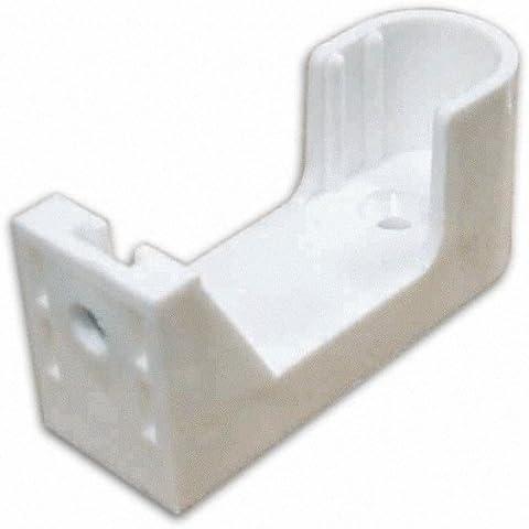 Reggitubo Ovale in Nylon per Armadio colore Bianco Fissaggio Laterale 10pz