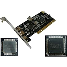 Kalea-Informatique–Scheda PCI© Controleur FireWire IEEE1394a 400–4porte, chipset Texas Instruments posteriore alimentazione di alimentazione, particolarmente adatto per il schede esterno - Porta Posteriore