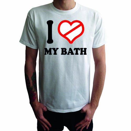 I don't love my Bath Herren T-Shirt Weiß