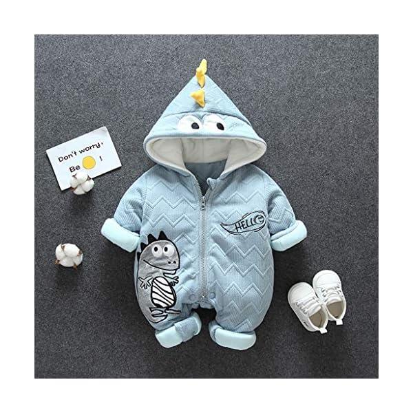 Felpa Pequeño Monstruo Encapuchado Recién Nacido Mono Invierno Moda Niñito Bebé Niños niñas Calentar Mameluco Mono… 3