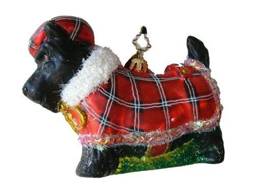 scottie-hund-terrier-dog-rot-karo-glas-mundgeblasen-handbemalt-weihnachtsbaumschmuck