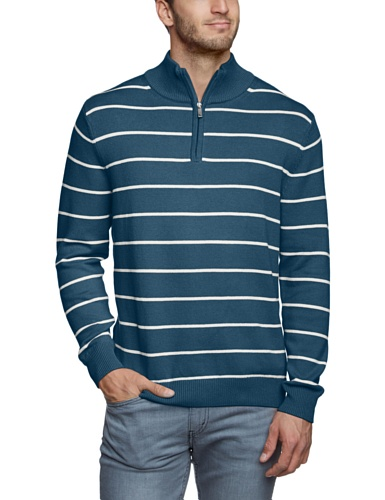Eddie Bauer Herren Pullover 41103232 Blau (blau gestr)