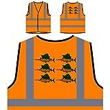 Espadon Smiley Poisson Veste de protection orange personnalisée à haute visibilité p789vo