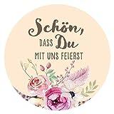 48 x Aufkleber Hochzeit Gast Boho Gastgeschenk Etikett