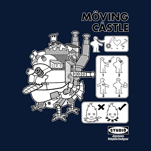 Howls Moving Castle Men's Vest Navy Blue