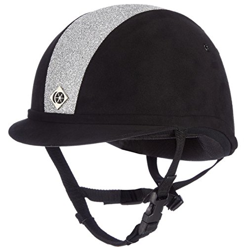 Charles Owen Sparkly YR8 Riding Hat 57cm Black and Silver (Charles Owen Hat)