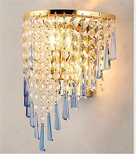 DZXYA Moderno cristallo in acciaio inox lampada da parete a