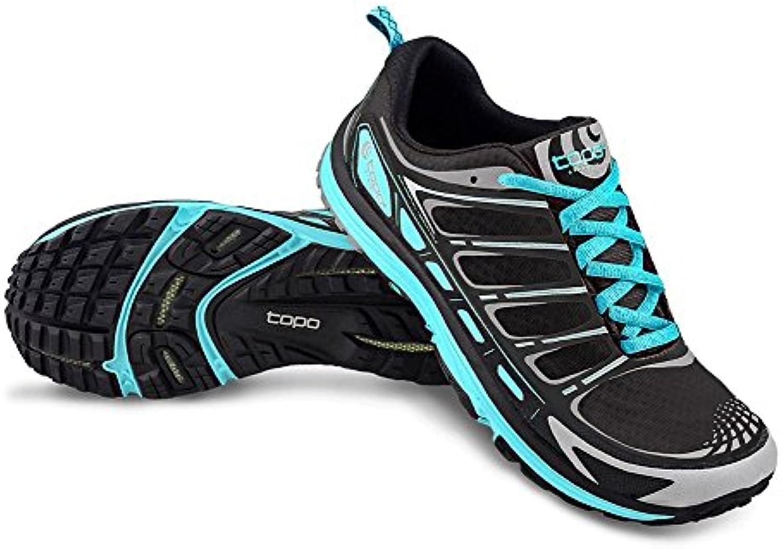 Topo Athletic runventure Trail Running Shoe – Mujer - 15W111070, turquesa, negro (Black/Dark Turquoise)