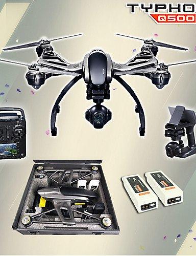 TT&FF Yuneec Q500 4k-Kamera mit ST10 10CH 5,8 g Sender FPV Quadcopter Hand kardanischen Doppelbatterie Drohne&Fall , mode 2-black
