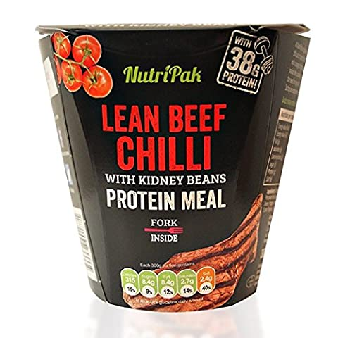 NutriPak Lean Chilli Beef Protein Ready Meal, Pack of 6