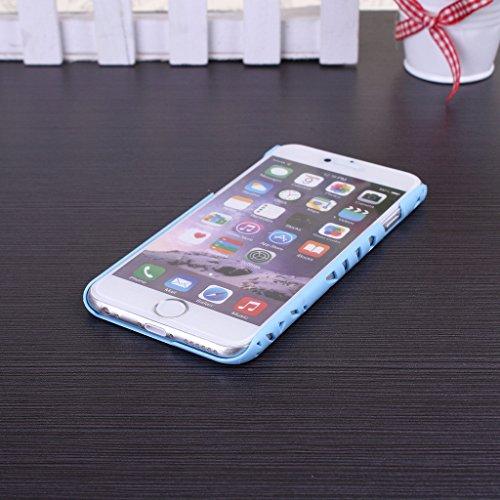 Wkae® Nid d'Oiseau creux sur la peau Hard Cover Case grillage en plastique pour Apple iPhone 6S 4,7 pouces par Diebell (Orange) birdnest-blue