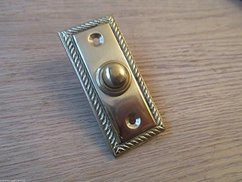 Ironmongery World® Türklingel im traditionellen, alten viktorianischen Stil, verdrahtet (Brass Bell Hardware)