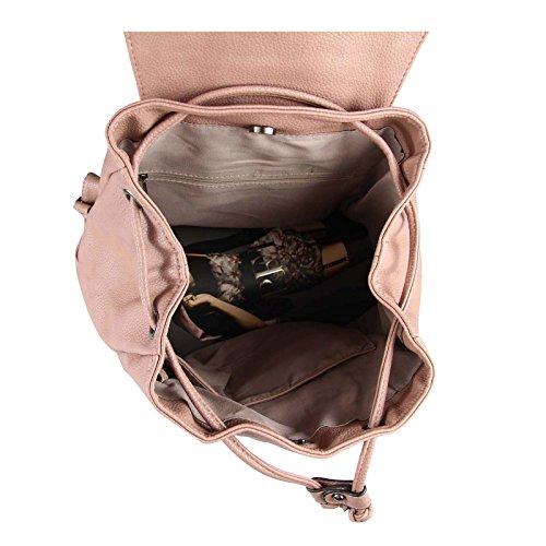 JJ Collection, Borsa a zainetto donna rosa Altrosa 34x36x17 cm 34x36x17 cm (BxHxT) Dunkelblau 34x36x17 cm