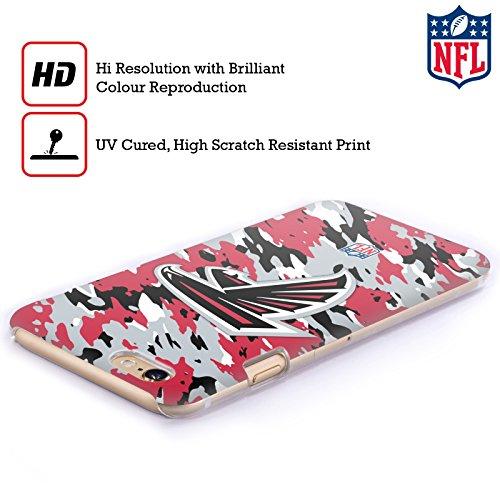 Offizielle NFL Einfarbig Atlanta Falcons Logo Ruckseite Hülle für Apple iPhone 6 / 6s Camou