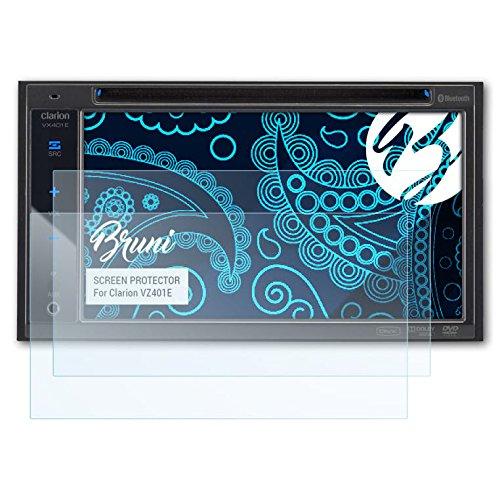 Bruni Clarion VZ401E Folie - 2 x glasklare Displayschutzfolie Schutzfolie für Clarion...