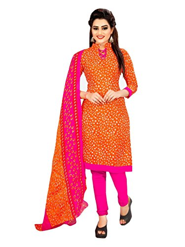 Crazy Women's Printed Cotton Unstitched Salwar Suits With Cotton Dupatta