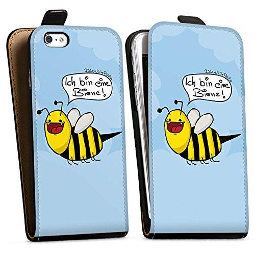Apple iPhone 5 Silikon Hülle Case Schutzhülle DirtyWhitePaint Fanartikel Merchandise Ich bin eine Biene! Downflip Tasche schwarz