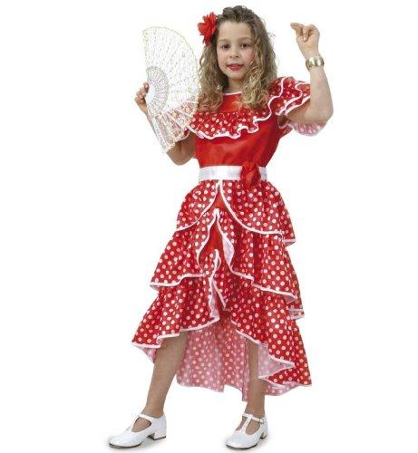Spanierin Kleid mit Gürtel Mädchen Gr 140