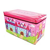 Kids Childrens Boys Girls Large Storage Toy Box Books Chest Clothes...