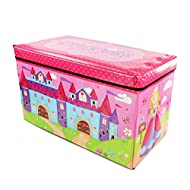 Princess Caja grande de almacenamiento para niños, ideal para juguetes, libros o como taburete