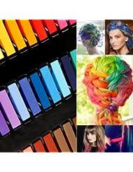kit de 24 couleur coloration cheveux teinture craie crayon temporaire coiffure par boolavard - Coloration Cheveux A La Craie