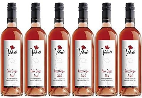 Volunte Pinot Grigio Rose 2015 Rose Wine 75cl (Case of