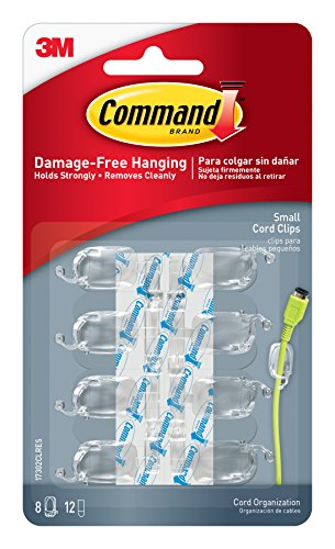 command-17302clr-small-cord-clips-with-clear-strips