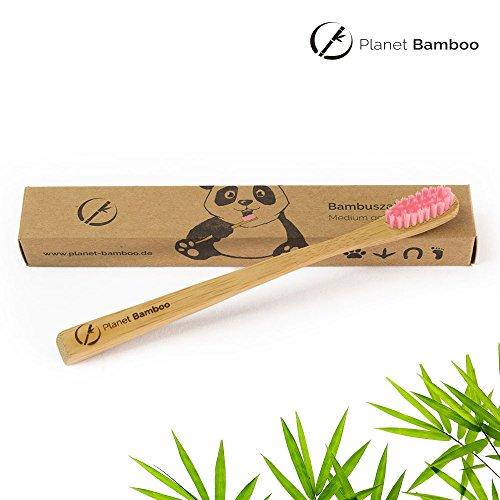 Planet Bamboo Bambus Zahnbürste für Kinder (4 Stück) - 4