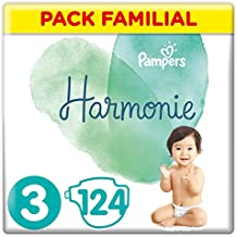 Pampers - Harmonie - Couches Taille 3 (6-10 kg) - Pack Familial (124 couches)