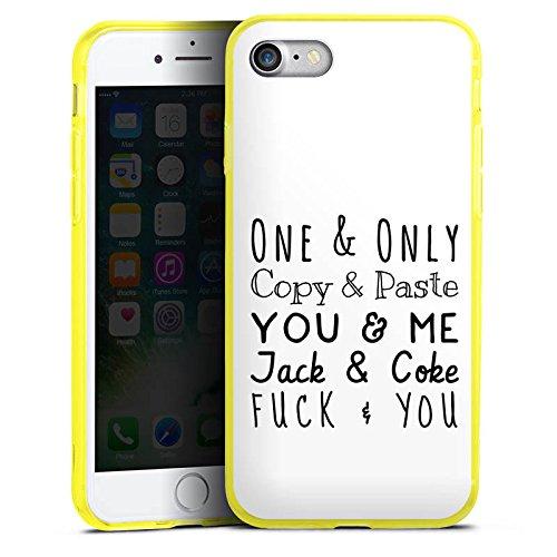 Apple iPhone 7 Silikon Hülle Case Schutzhülle Best Friend Freundschaft Statement Silikon Colour Case gelb