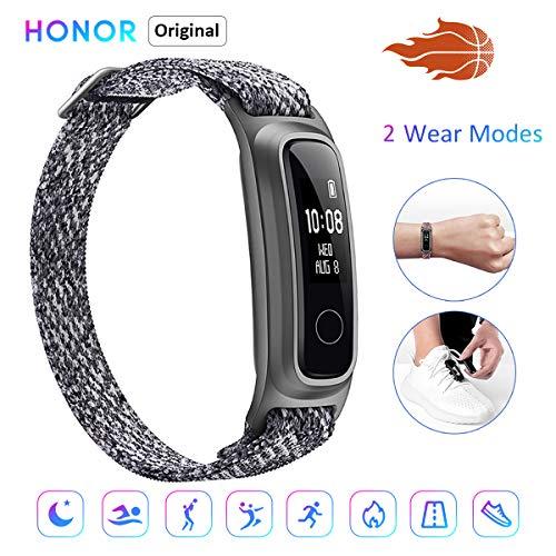 HONOR Band 5 Sport Fitness smart Armband Basketball Überwachungsfunktion Zwei Arten zu tragen Umweltfreundlicher Armband 5ATM wasserdichte Smart Watch(Grau)
