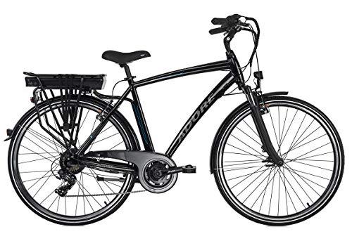 Adore Alu City Herren Pedelec Versailles 28'' E-Bike schwarz 250Watt Li-Ion 36V/10,4Ah 7Gänge