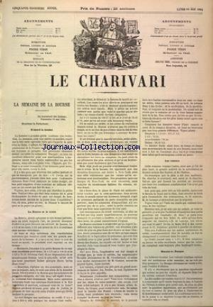 CHARIVARI (LE) du 19/05/1884