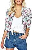 EUDOLAH Damen Blazer Strickjacke Sweatshirt mit Reissverschluss Streetwear Frühling Herbst Rosa XL (Brust: 106cm Länge: 64cm)