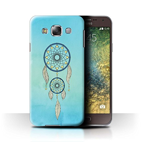 Stuff4® Hülle/Case für Samsung Galaxy E5/E500 / Hellblauer Himmel Muster/Bunte Traumfänger-Kunst Kollektion