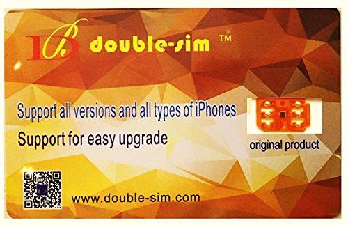Double Sim Entsperrkarte DHL Double-Sim 4G Gratis für iPone X 8 7 6 5S 5C 5 SE iOS 11.X GPP Plug and Play