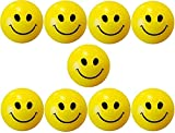 #1: Rollswich Smiley face Squeeze Balls for Kids and Adults for Stress Relief and Playing (Pack of 9)