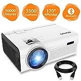 BIGASUO Vidéoprojecteur 3500 Lumens Portable LED Mini Projecteur Bluetooth, Soutien...